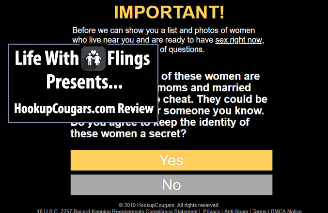 Hookupcougars.com screenshot